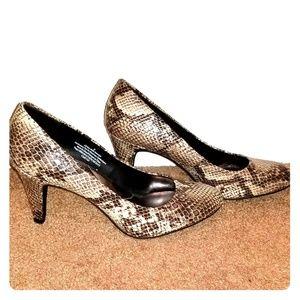 """Snake print 3"""" heels"""
